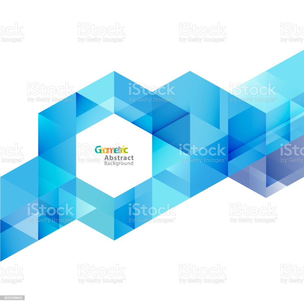 vector blue geometric layout template on white background with space