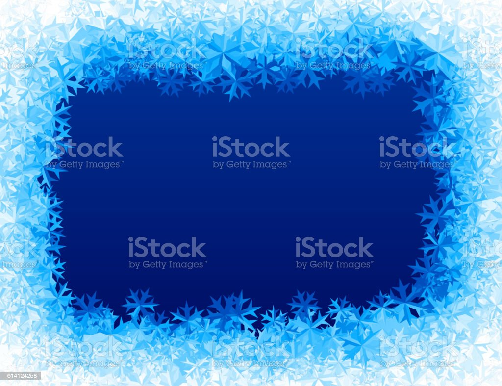Vector blue ice background vector art illustration