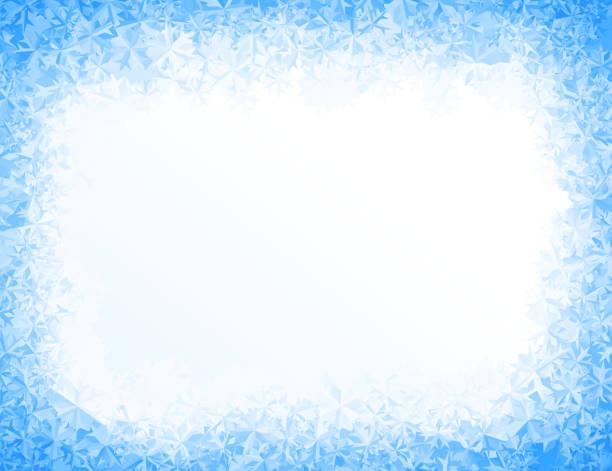 벡터 블루 아이스 배경 - 서리 stock illustrations