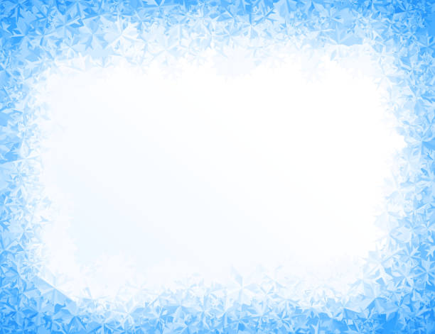 vector blue ice background - 얼음 stock illustrations