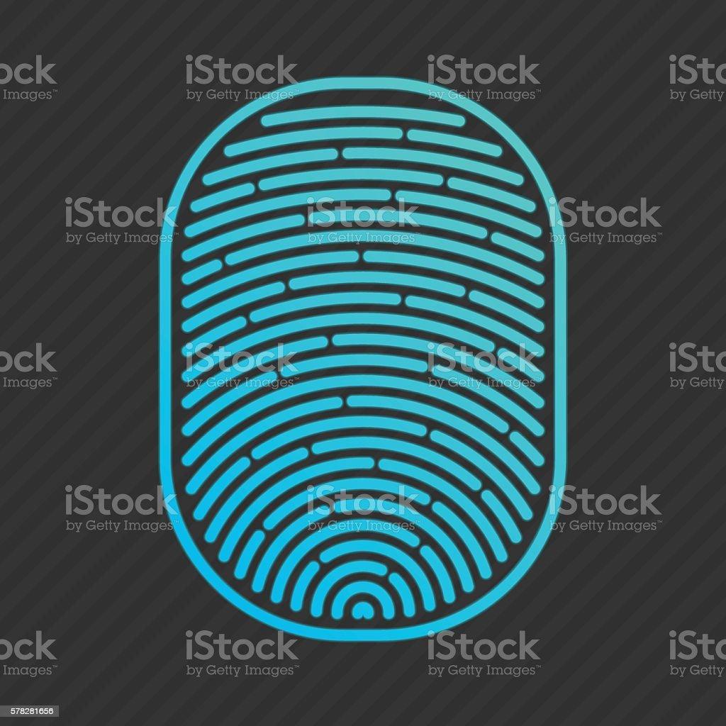 Vector blue isolated fingerprint ベクターアートイラスト
