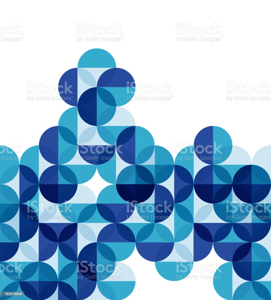 Vector blue mosaic background - Royalty-free Abstract vectorkunst