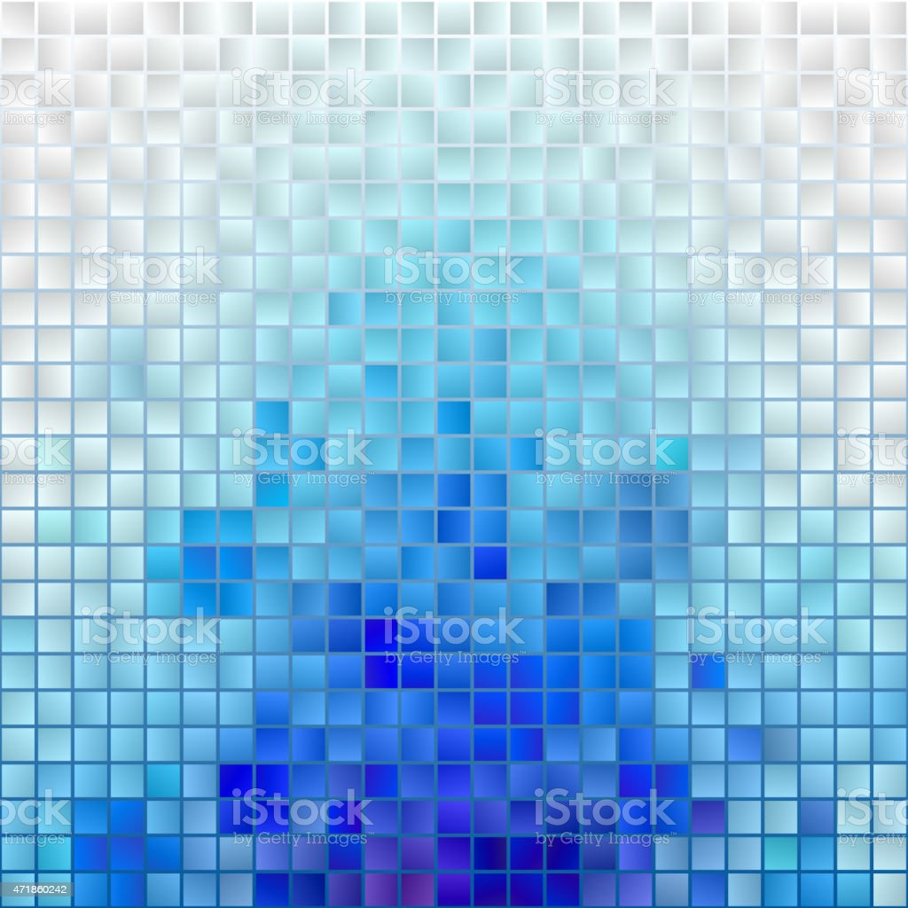 Vector Blue Mosaic Background vector art illustration