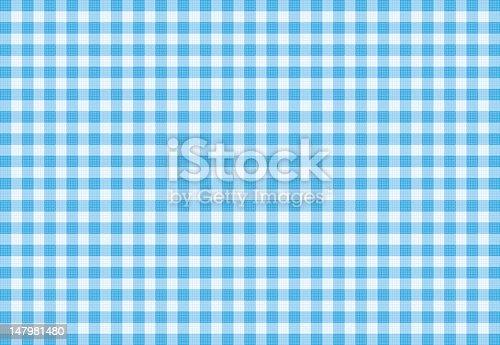 Blue Plaid Fabric