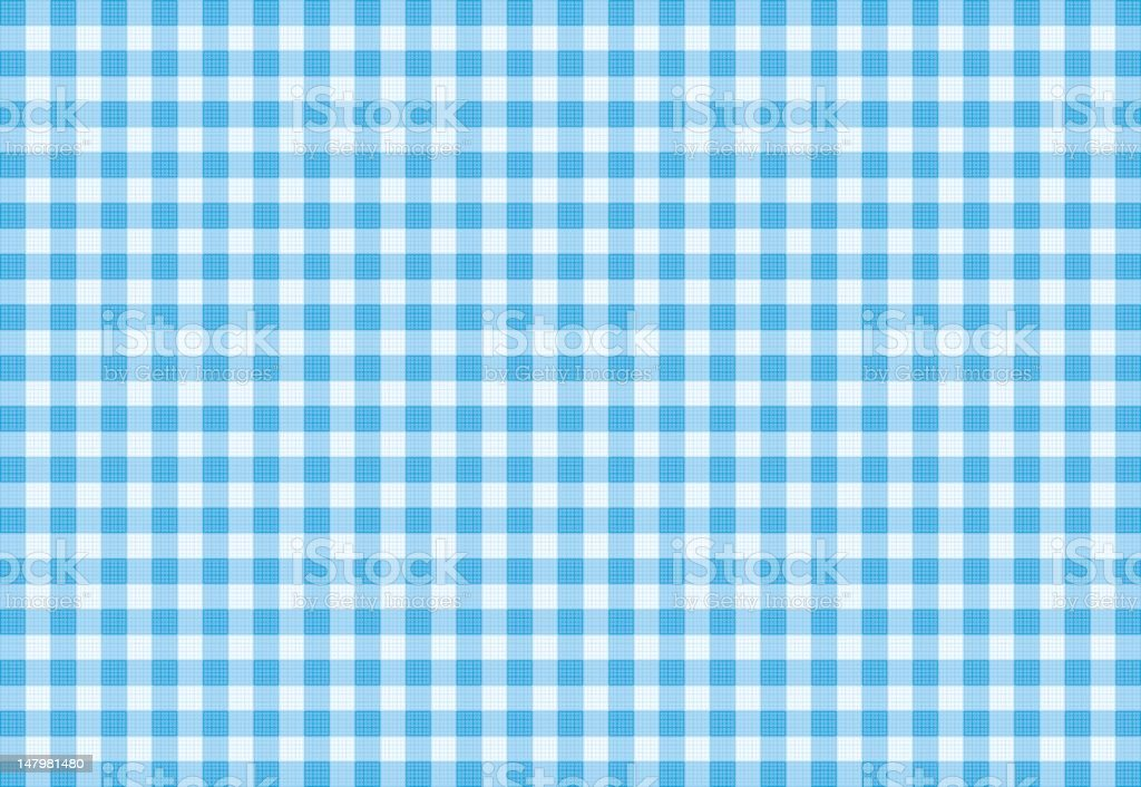 Vector Blue Plaid Fabric background textured vector art illustration