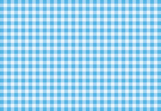 Vector Blue Plaid Fabric background textured Blue Plaid Fabric tartan pattern stock illustrations