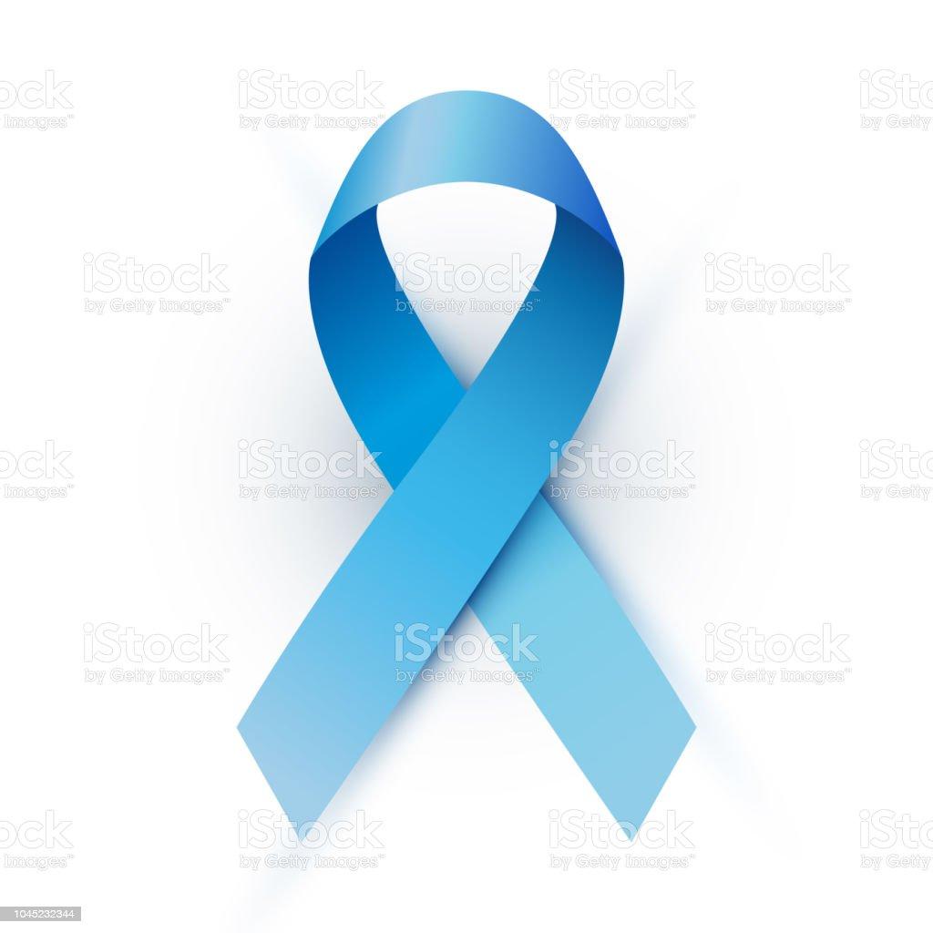 Vector blue ribbon vector art illustration