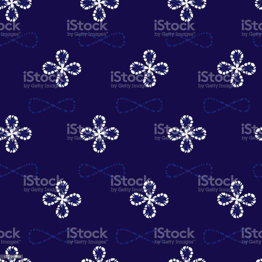 ベクターブルー絞りシンプルな小さな四葉クローバーパターンの背景テキスタイルギフトラップ壁紙に適しています イラストレーションのベクターアート素材や画像を多数ご用意 Istock