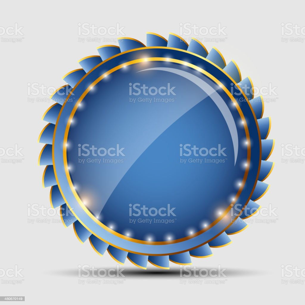 Vector blue sign, label template royalty-free stock vector art