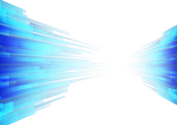 Vector : Blue stripe on white background vector art illustration