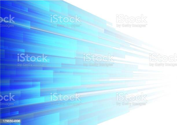 Vector Blue Stripe On White Background Stock Illustration - Download Image Now