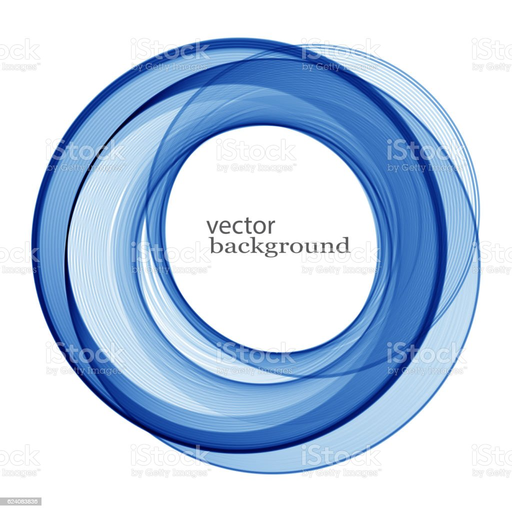 Vector blue swirl vector art illustration
