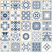 Vector Blue Tile Collection