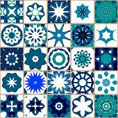 Vector Blue Tile Pattern