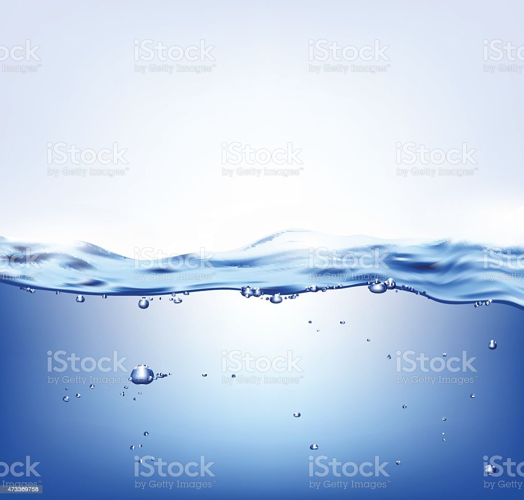 Vector blue water vector art illustration