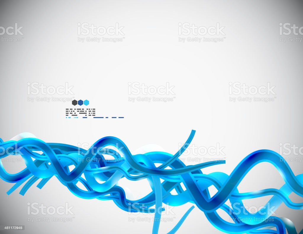 Vector blue wave background royalty-free stock vector art