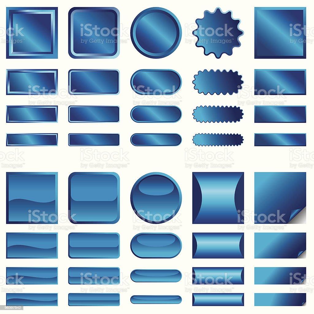 青の web ボタンのベクトル - 3Dのロイヤリティフリーベクトルアート