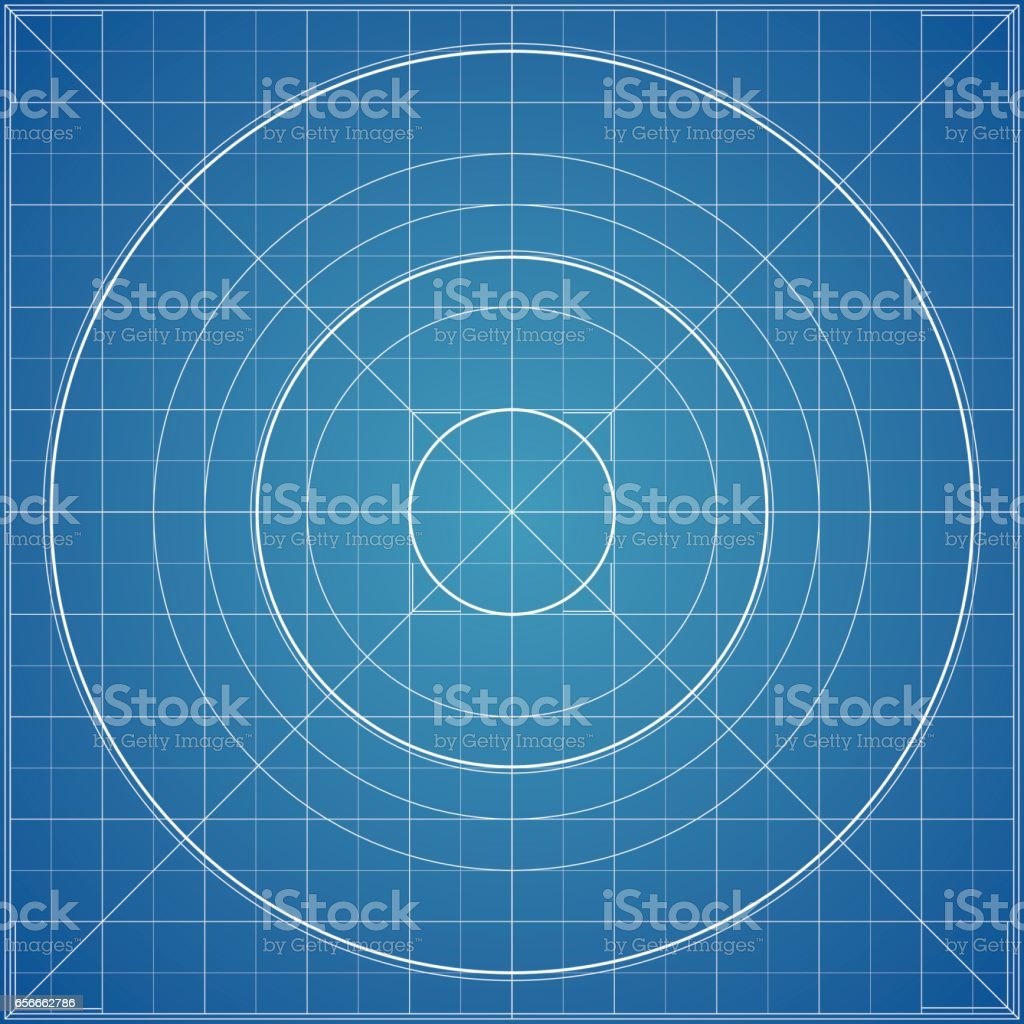 Vector blueprint background texture technical backdrop paper radial vector blueprint background texture technical backdrop paper radial guidelines circle mesh concept malvernweather Gallery