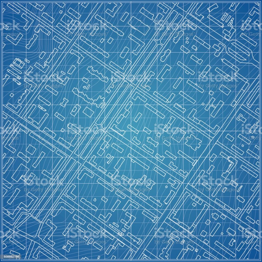 Vector blueprint with city topography stock vector art more images vector blueprint with city topography royalty free vector blueprint with city topography stock vector art malvernweather Choice Image