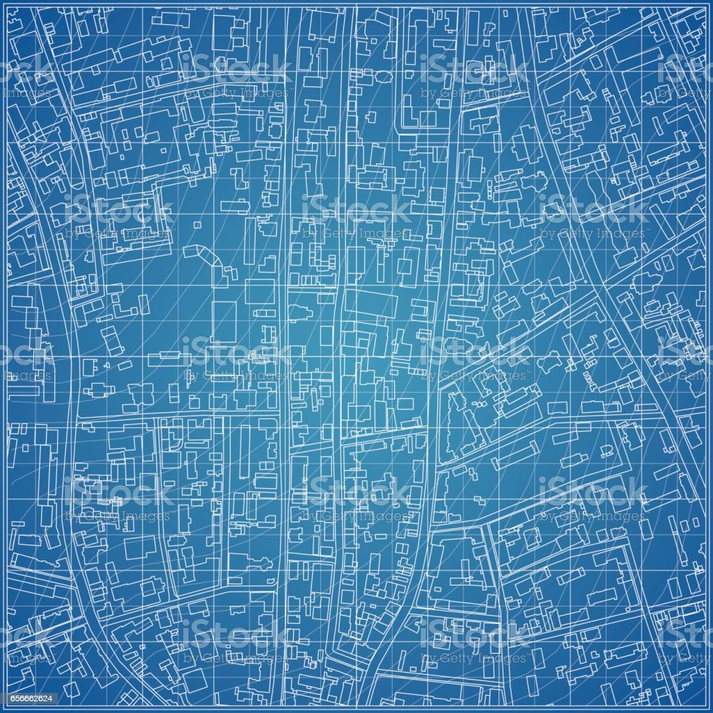 Vector blueprint with city topography stock vector art more images vector blueprint with city topography royalty free vector blueprint with city topography stock vector art malvernweather