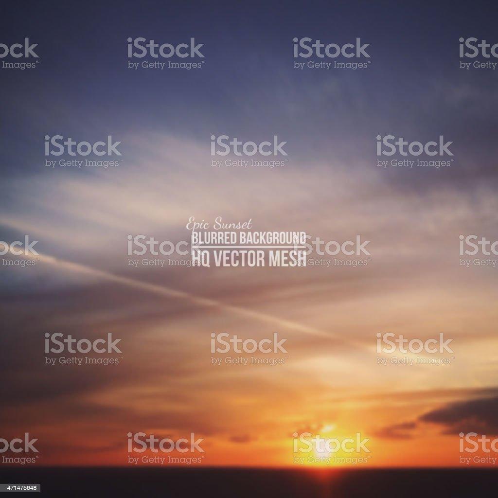 Vector Blurred Background vector art illustration