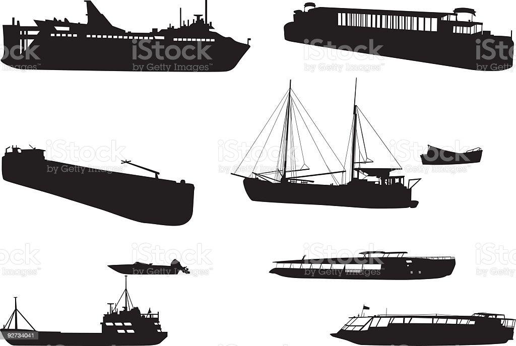 Vector boats royalty-free stock vector art