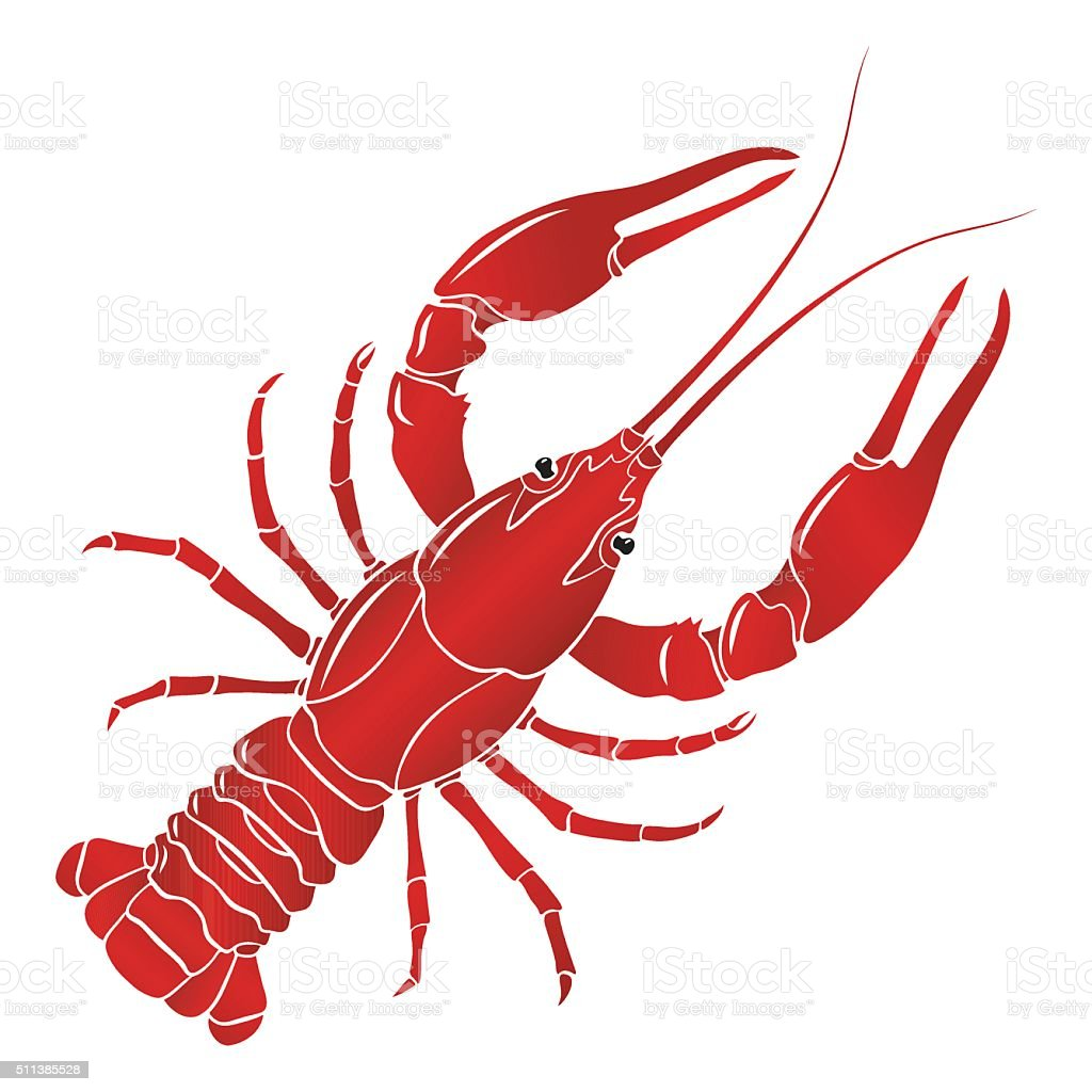 Vector Boiled Red Crayfish Crawfish Stock Illustration ...