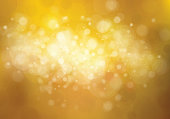 Vector bokeh, lights, golden background.
