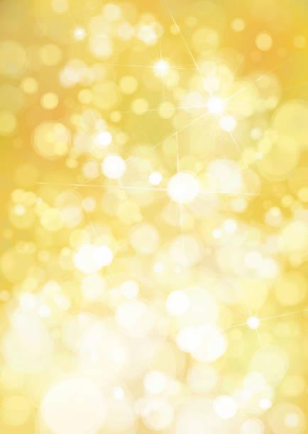 bildbanksillustrationer, clip art samt tecknat material och ikoner med vector bokeh gyllene bakgrund. - gul bakgrund