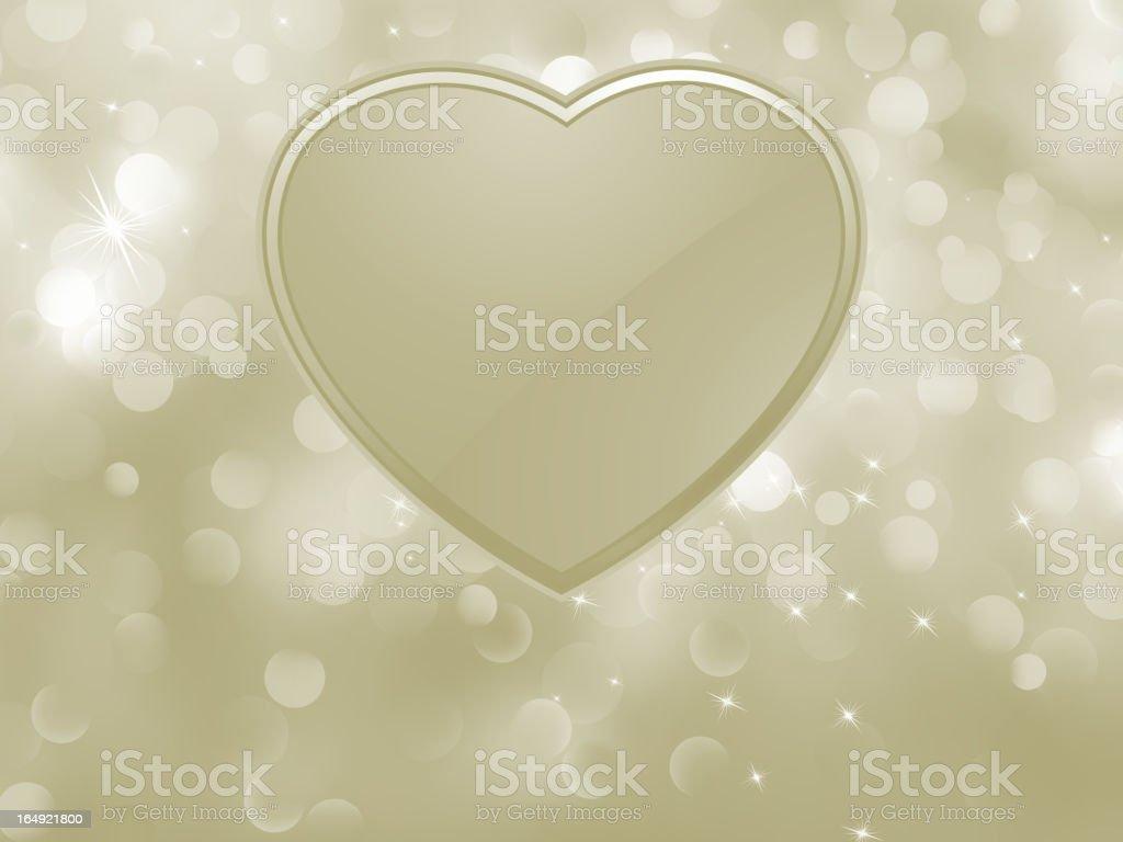 Vector bokeh valentine card. EPS 8 royalty-free stock vector art