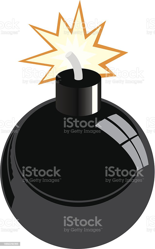 Vector Bomb royalty-free stock vector art