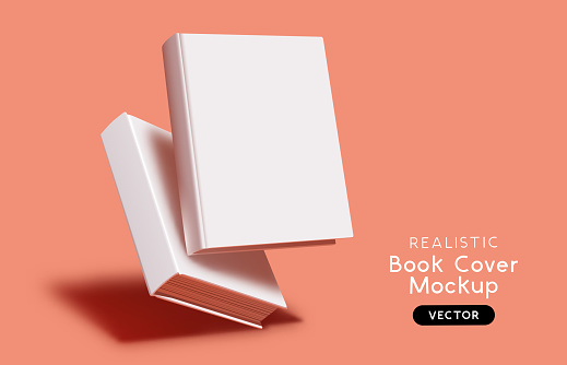 Vector Book Cover Blank Mockup Layout