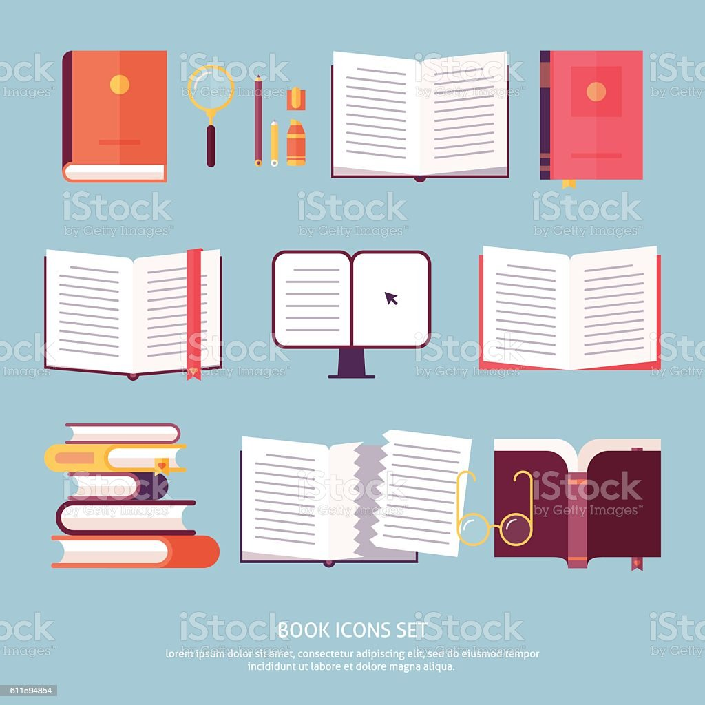 Vektor Buch set – Vektorgrafik