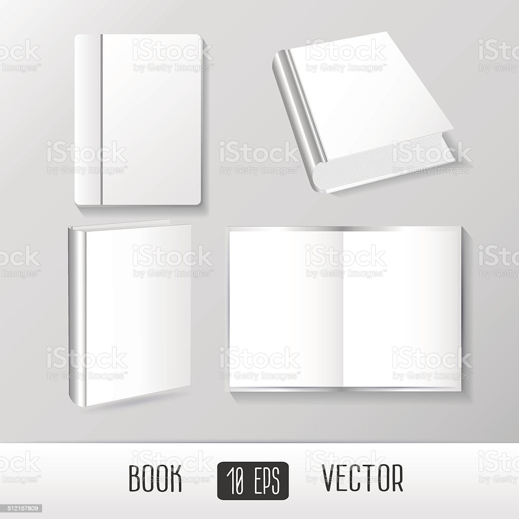Vector Books Mockup Templates Stock Vector Art More Images Of