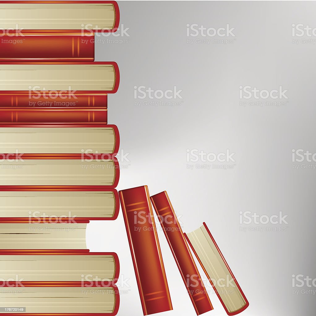 Vector books royalty-free stock vector art