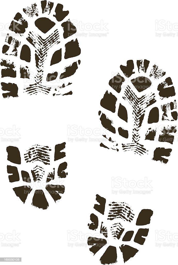 Vector Boot Prints vector art illustration