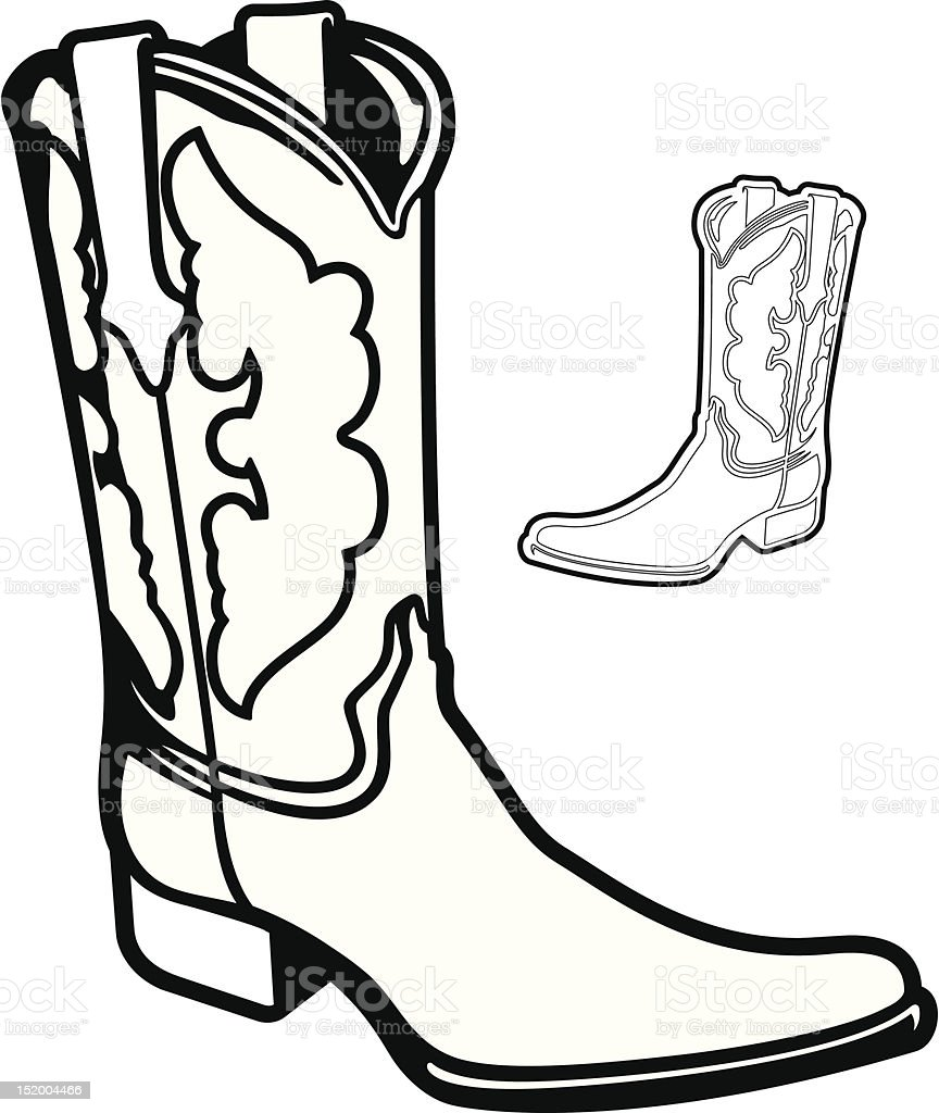 Vector Boot vector art illustration