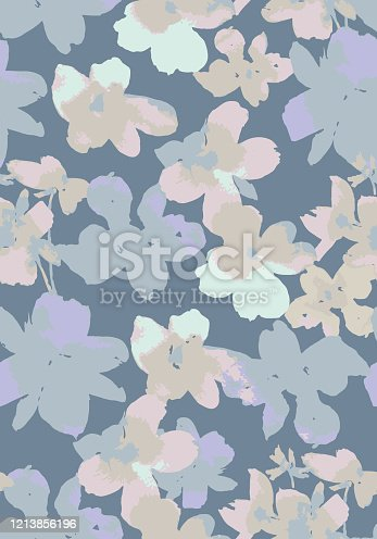 istock Vector botanical seamless pattern 1213856196
