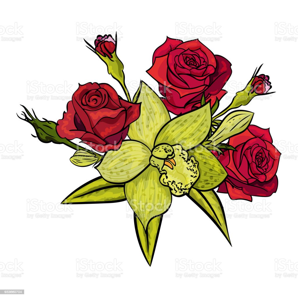 Vector Bouquet Of Flowers Stock Vector Art More Images Of Beauty