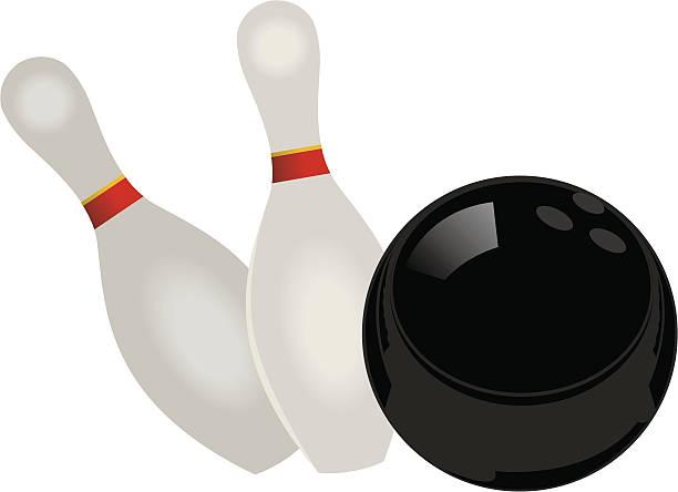 Vector Bowling Ball and Pins vector art illustration