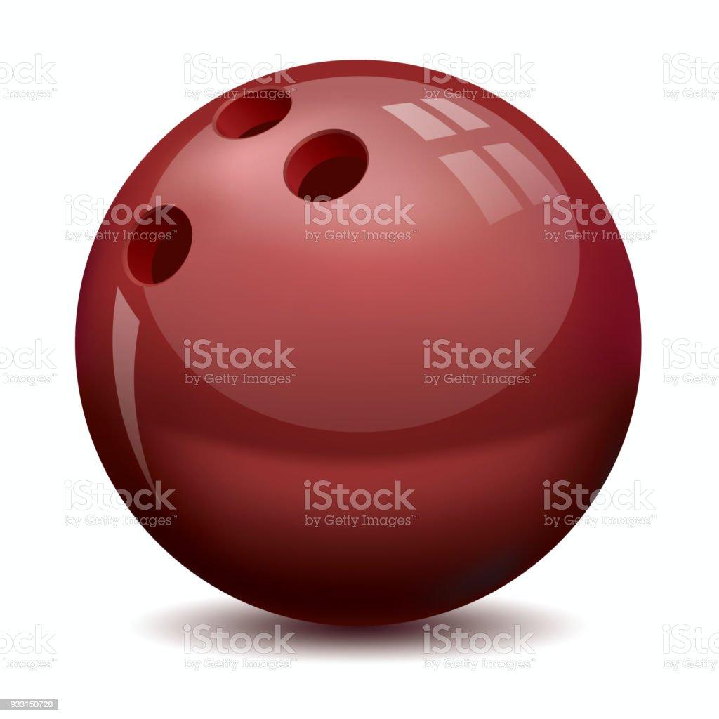 Vektor-Bowling-Kugel, Vektor icon – Vektorgrafik