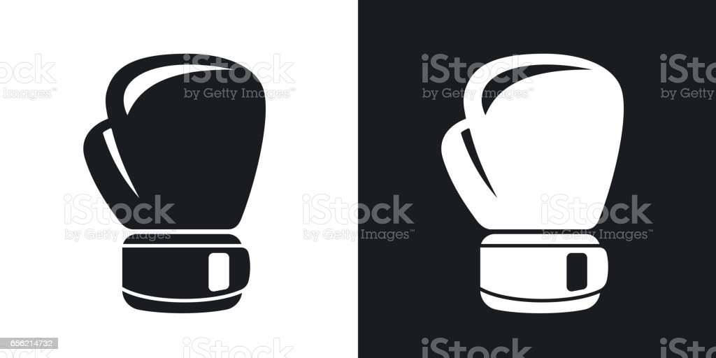 Vector boxing glove icon. Two-tone version vector art illustration