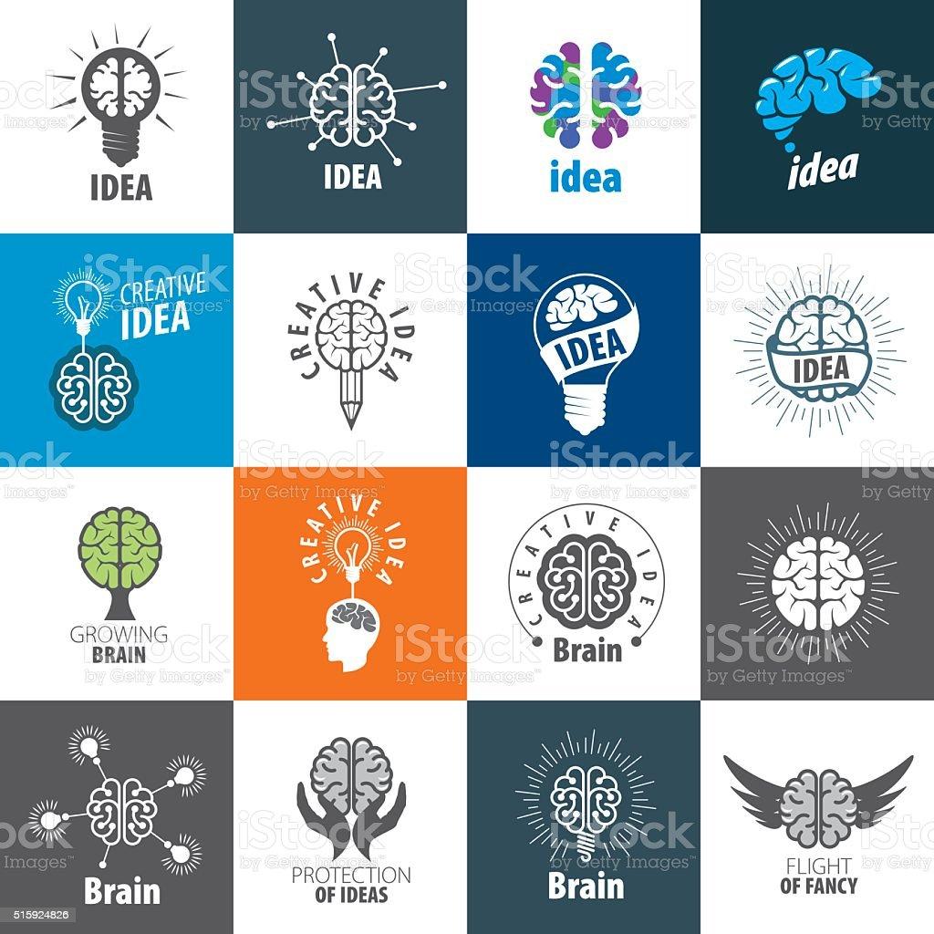 Vector brain icon vector art illustration