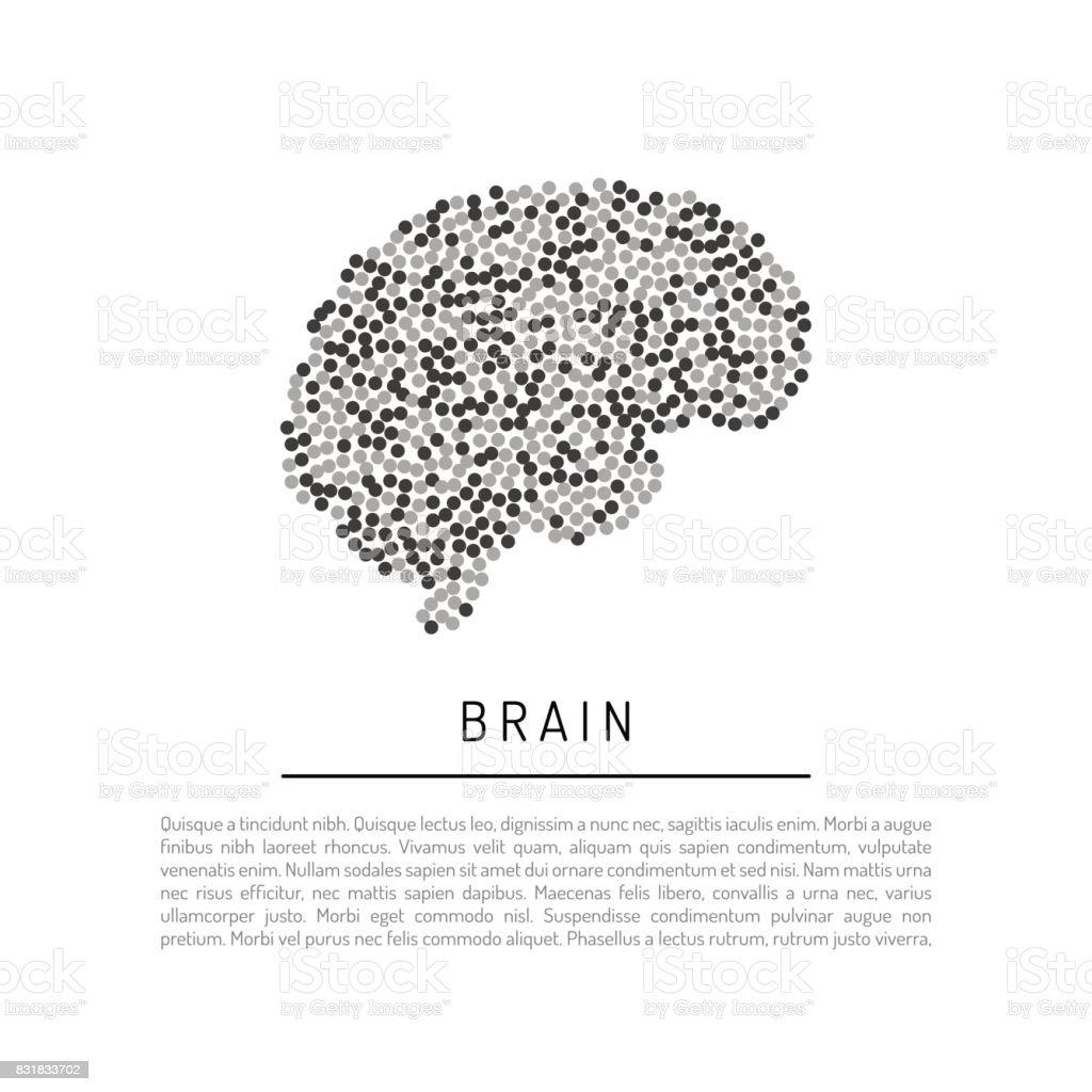 Ilustración de Cerebro De Vector Aislado y más banco de imágenes de ...