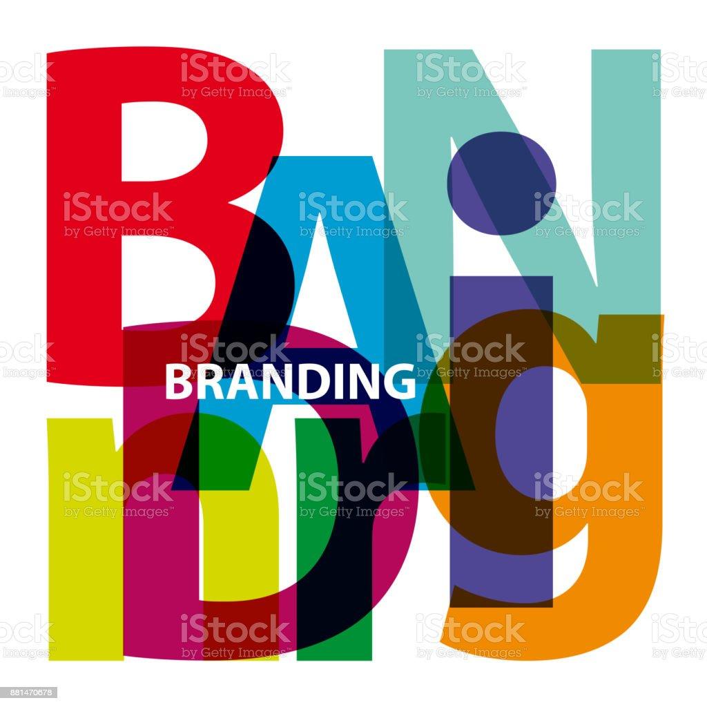 Vector branding. Broken text vector art illustration