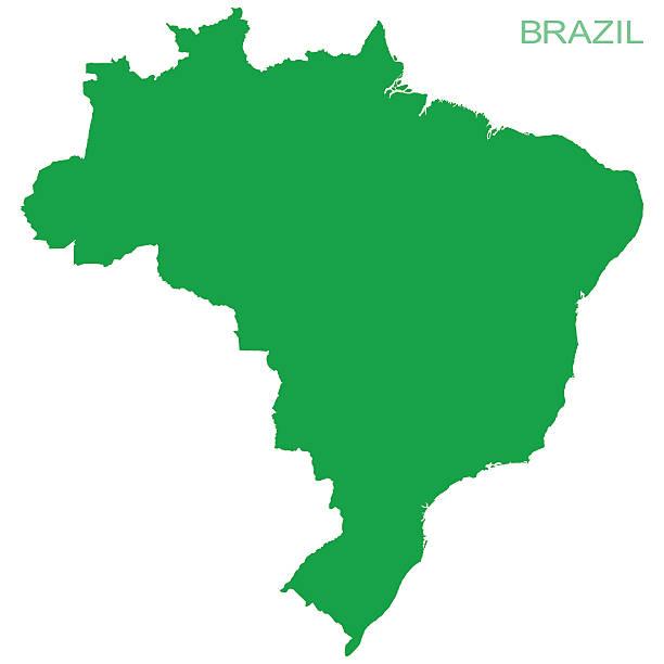 ilustrações, clipart, desenhos animados e ícones de vector brazil pictogram - brazil map