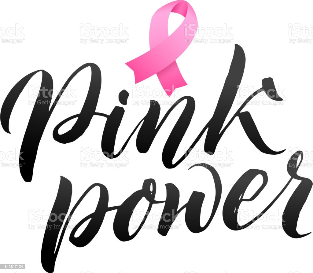 vector breast cancer awareness calligraphy poster design stroke pink rh istockphoto com october breast cancer awareness month clip art free clipart for breast cancer awareness month
