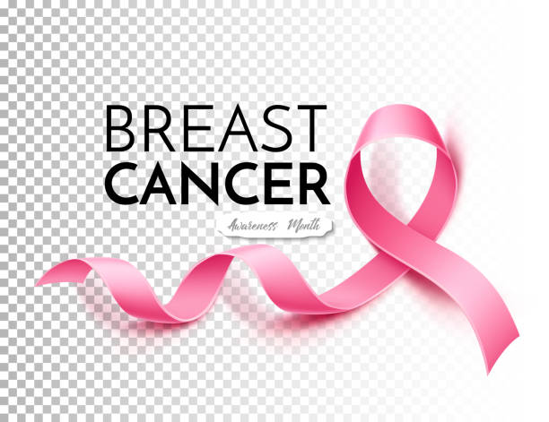 stockillustraties, clipart, cartoons en iconen met vector borst kanker bewustzijn poster roze lint - breast cancer