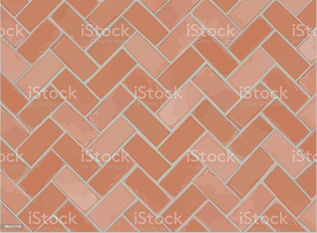 Vector Brick Floor - Royalty-free Backgrounds stock vector