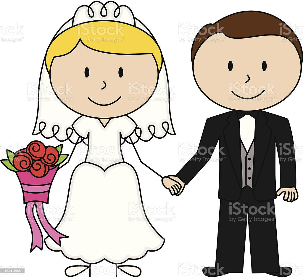 royalty free cartoon of a flower for groom clip art vector images rh istockphoto com bride and groom picture clipart bride n groom cartoon images